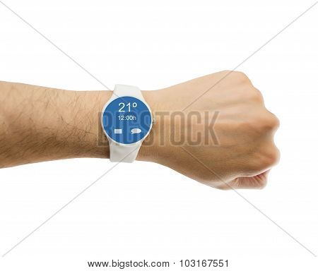 Showing The Smartwatch With Weather Prediction