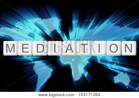 Mediation Keyboard Button With World Background