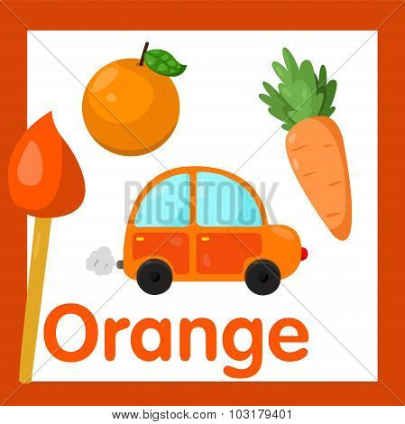 Illustrator of Orange color
