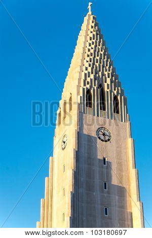The tower of the Hallgrimskirkja