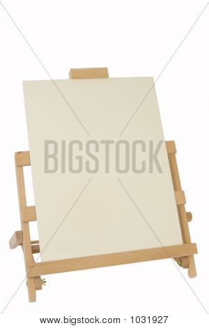 Table Easel And Canvas
