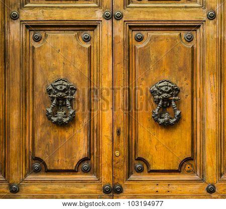 Old Doors Of Roma, Italy