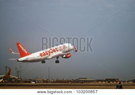 Takeoff Of A Plane Of Low Cost Airline