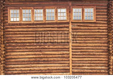 fragment of the wooden house