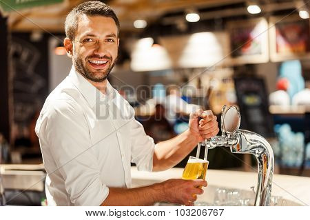 Only Fresh Beer In His Bar!