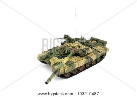 Main battle tank on a white background poster