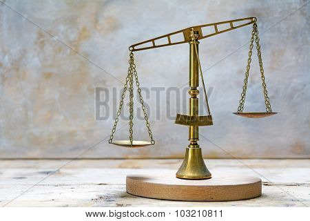 Vintage Scales Of Justice Out Of Balance
