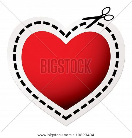 Cut Out Heart Red