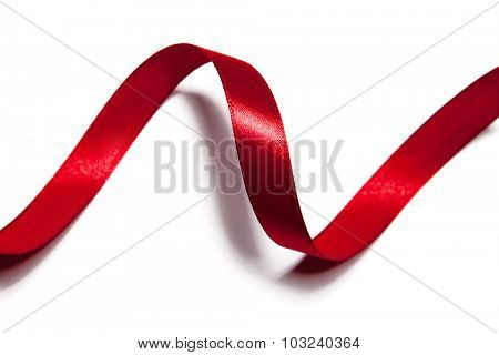 image of red ribbon on white background