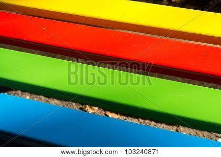 Bright Rainbow Wood