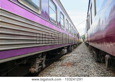 Between Bogie Of Thai Train