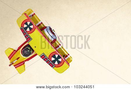small tin toy Bi plain