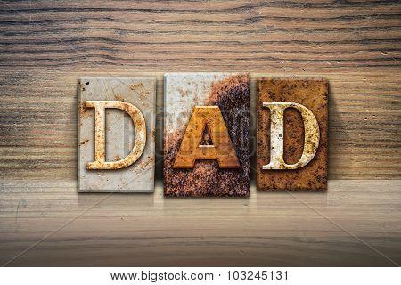 Dad Concept Letterpress Theme