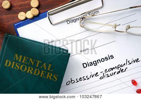 Obsessive-compulsive disorder concept.