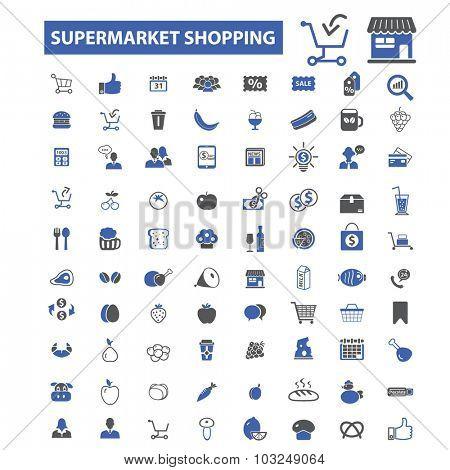 supermarket shopping icons