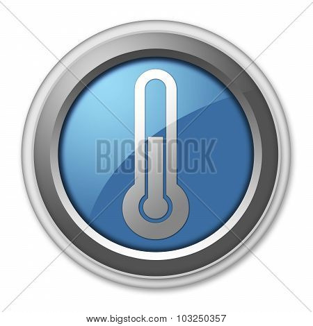 Icon, Button, Pictogram Temperature