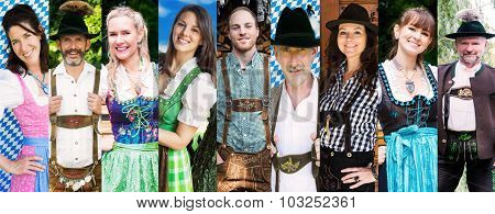 Multiple Faces Of Bavarian People