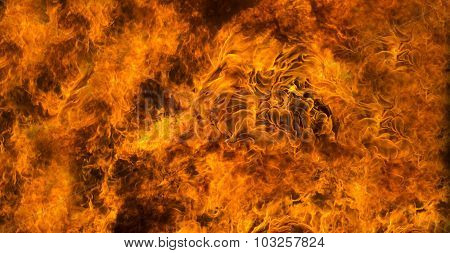 Fire Background Or Texture