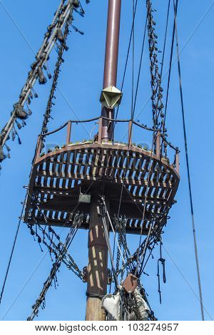 Crow's nest on the ship