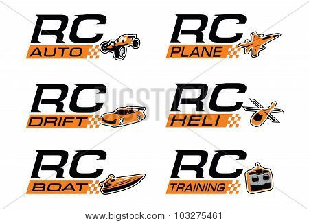 Radio control icon set