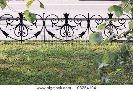 The wrought-iron fence in the form of heart