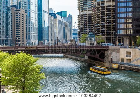 CHICAGO, USA - CIRCA MAY 2015: Chicago downtown, Illinois, USA