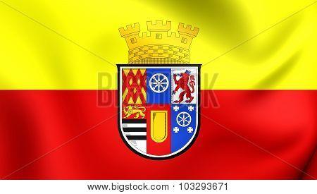 Flag Of Mulheim An Der Ruhr City (north Rhine-westphalia), Germany.