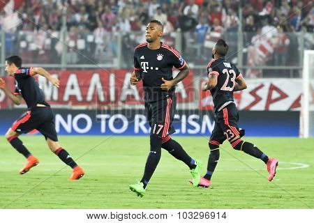 Jerome Boateng During The Uefa Champions League Game Between Olympiacos And Bayern, In Athens, Greec