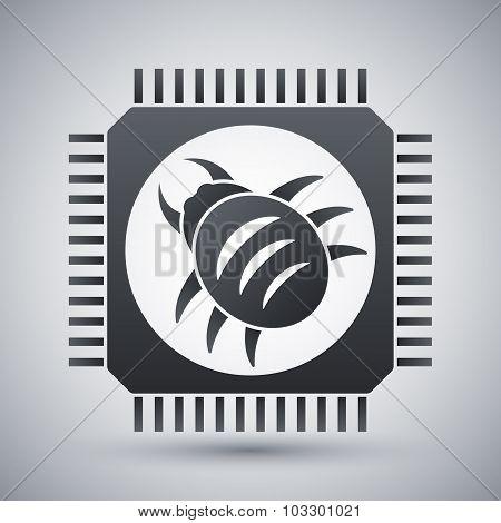 Vector Hardware Bug Icon
