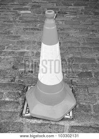 Black And White Traffic Cone