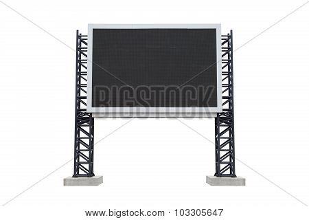 Mini Scoreboard Center  Stadium Isolated On White Background. Use Clipping Path