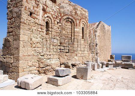 Church Of St John On The Acropolis, Lindos
