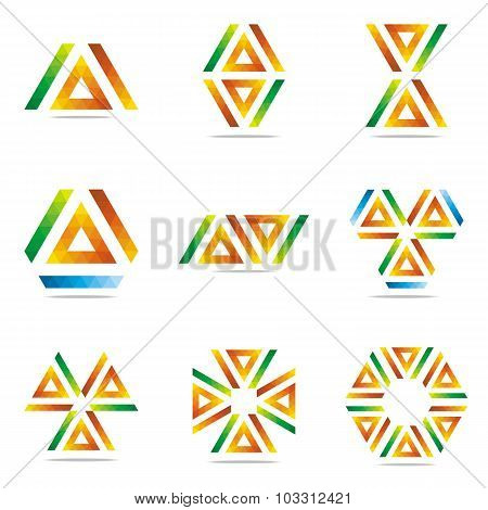 Logo all sales Letter abstract symbol