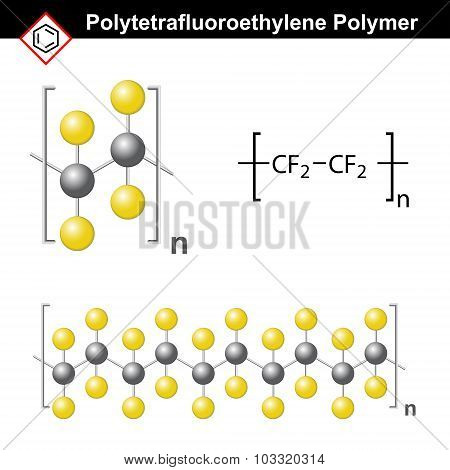 Polytetrafluoroethylene Polymer Structure
