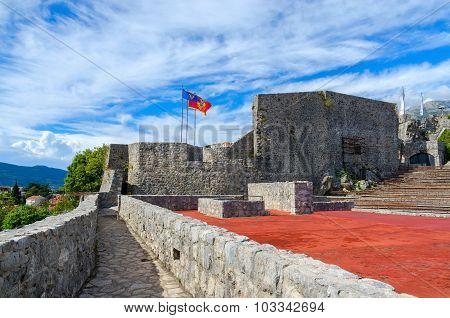 View of the fortress Kanli Kula (Bloody Tower) Herceg Novi Montenegro poster