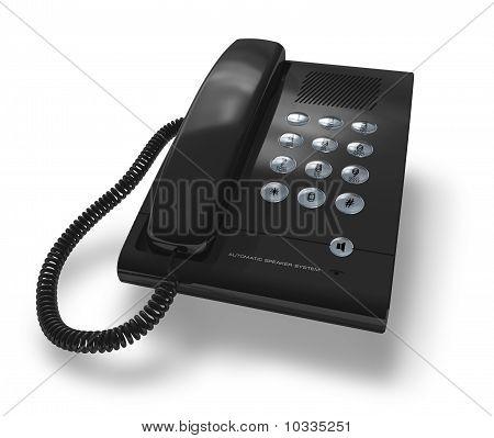 Schwarz Bürotelefon