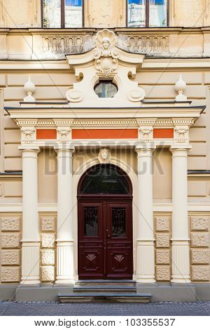Fragment Of Art Nouveau Architecture - Building Fasade Of Riga City