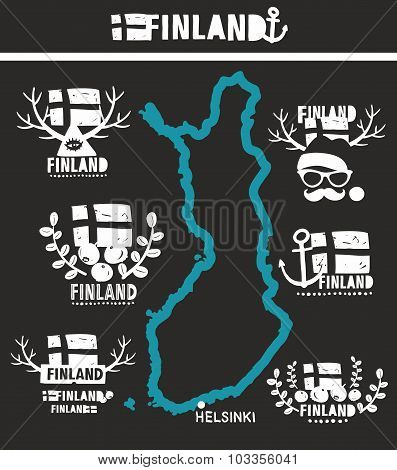 Map of Finland with country labels.
