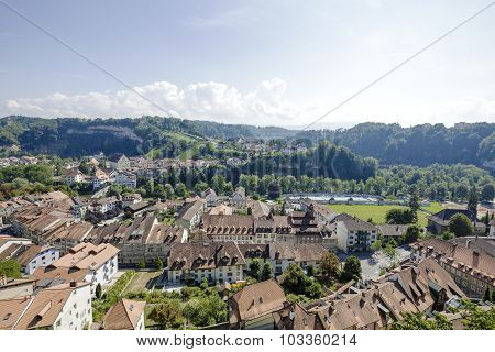 City Of Fribourg In Switzerland