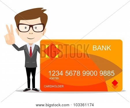 man with credit card for use in advertising