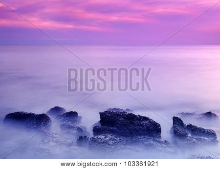 Rocky Saint Martin's Island Of Bangladesh