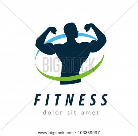 fitness vector logo design template. health or gym icon