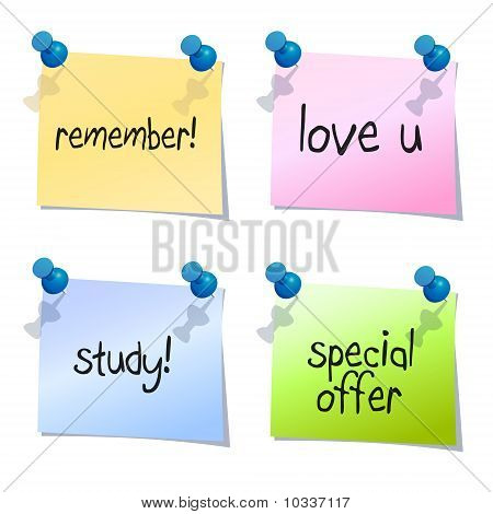 post it notes with text