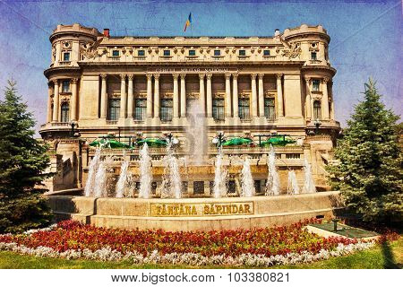 Army Historical Building In Bucharest