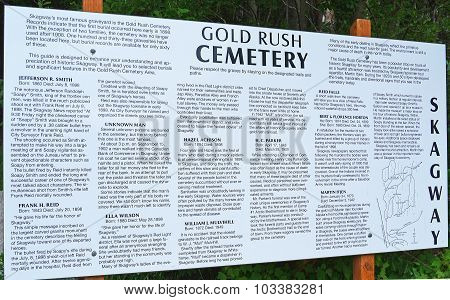 Gold Rush Cemetery List of Famous Gravesites