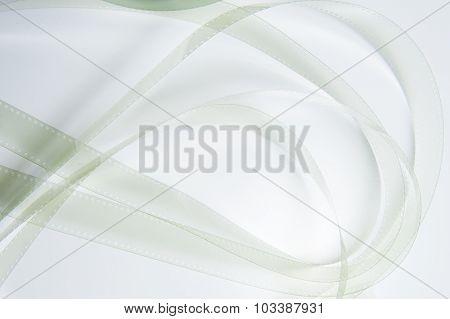 35 Mm Film Detail On White
