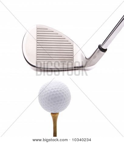 Sand Wedge And Golf Ball