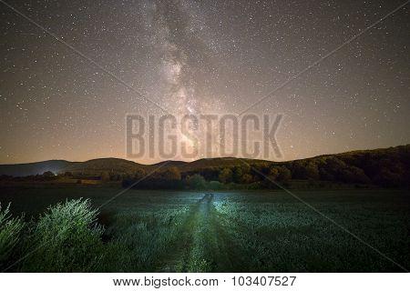 Milky Way And Green Way