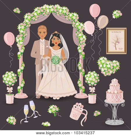 Cream  And Green Wedding Design