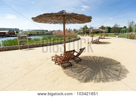 Sunloungers With Sunshade